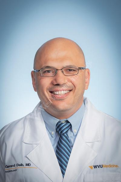 Gerard Deib  MD Radiology WVU Medicine poses for a portrait at the HSC studio September5, 2019. (WVU Photo/Greg Ellis)