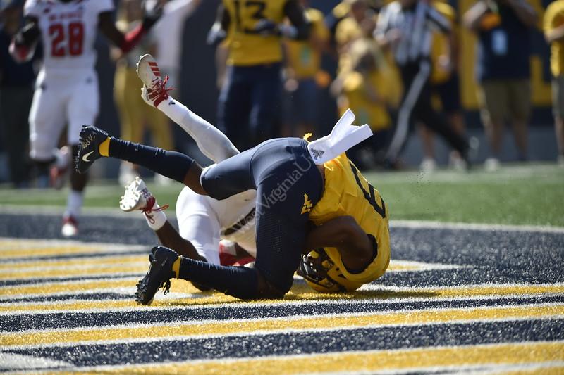 WVU's football team faced off against NC State on September 14, 2019. (WVU Photo/Parker Sheppard)