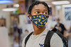 WVU Freshmen Nathaniel Shim  Psychology Bloomfield, CT.  people watches at the WVU Mountainlair as students return to the WVU Campus for the first day of classes during the Covid-19 pandemic August 26, 2020. (WVU Photo/Greg Ellis)