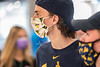 WVU Freshmen Duncan Troy contemplates his food selection at Hatfields WVU Mountainlair. WVU students arrive on campus interacting and physical distancing before the start of classes during the Covid-19 pandemic August 19, 2020. (WVU Photo/Greg Ellis)