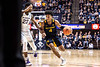 Miles Mcbride dribbles past a defender. WVU Men's Basketball took on Kansas State on February 1, 2020 in the Coliseum. (WVU Photo/Parker Sheppard)