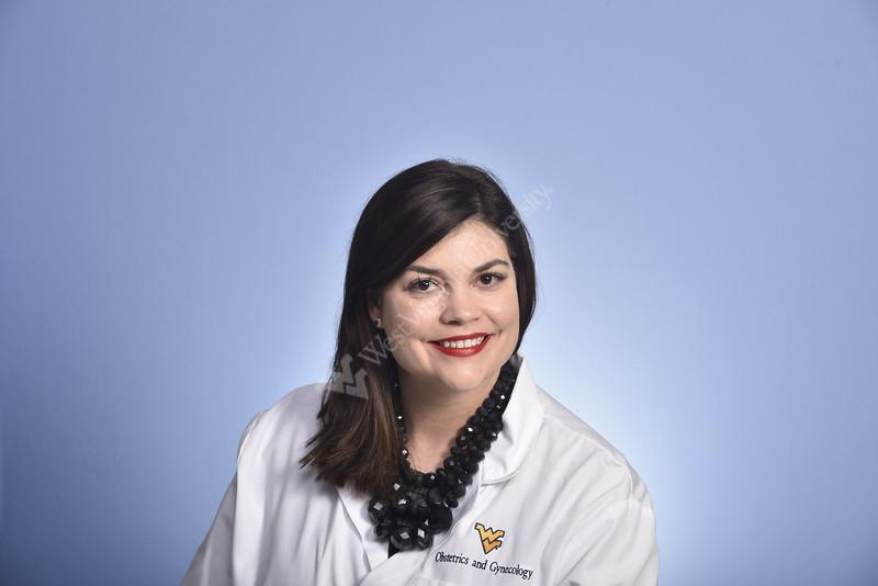 Annelee Boyle, MD OBGYN WVU Medicine poses for a portrait at the HSC studio February 6, 2020. (WVU Photo/Greg Ellios)