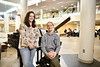 Savanna Butcher and Jacob Bumgarner pose for photographs at the Health Sciences Center February 11th, 2020.  (WVU Photo/Brian Persinger)