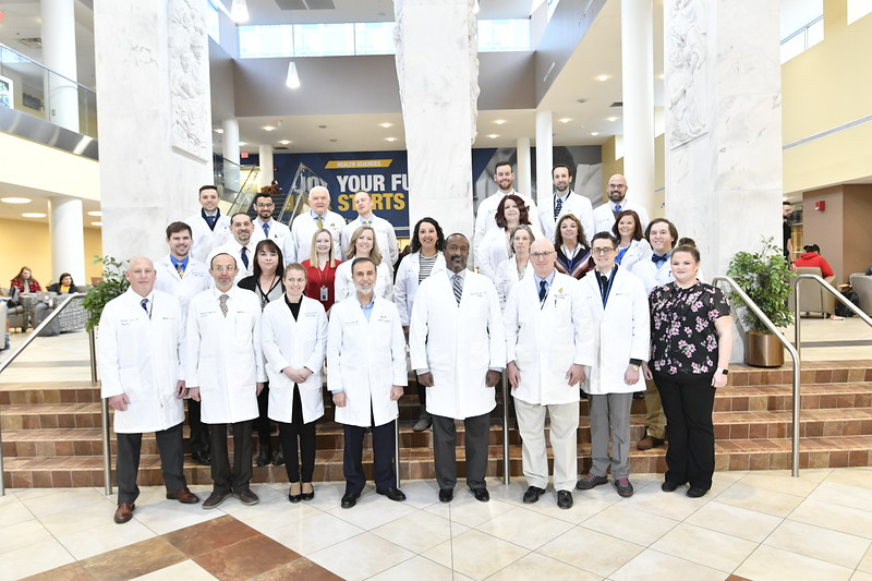 Members of the Urology department pose for a group photo February 12, 2020. (WVU Photo/Greg Ellis)