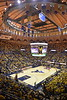 WVU Men's Basketball took on Kansas on February 13, 2020 in the Coliseum. (WVU Photo/Parker Sheppard)
