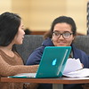 WVU students study in the WVU Downtown Library Morgatown WV. February 18, 2020. (WVU Photo/Greg Ellis)