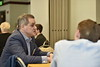 Finalists in the Business Plan Competition participated in a workshop on February 22, 2020 at the Erickson Alumni Center. (WVU Photo/Parker Sheppard)
