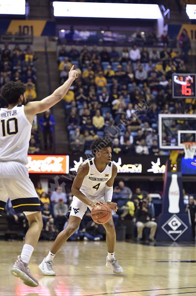 WVU Men's Basketball took on Oklahoma State on February18, 2020 in the Coliseum. (WVU Photo/Parker Sheppard)