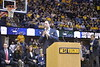 WVU Men's Basketball took on Oklahoma on February 29, 2020 in the Coliseum. (WVU Photo/Parker Sheppard)