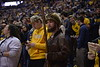 The four mountaineer finalists take part in the mountaineer cheer off during the WVU basketball game on February 29, 2020 in the Coliseum. (WVU Photo/Parker Sheppard)
