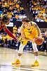 Jordan McCabe stares down a defender. WVU Men's Basketball took on Texas Tech on January 11, 2020 in the Coliseum. (WVU Photo/Parker Sheppard)