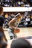 Brandon Knapper looks to pass the ball. WVU Men's Basketball took on TCU on January 14, 2020 in the Coliseum. (WVU Photo/Parker Sheppard)