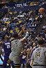 WVU Men's Basketball took on TCU on January 14, 2020 in the Coliseum. (WVU Photo/Parker Sheppard)