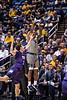 Brandon Knapper jumps for a shot. WVU Men's Basketball took on TCU on January 14, 2020 in the Coliseum. (WVU Photo/Parker Sheppard)