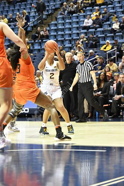 WVU Women's Basketball vs OK State at the WVU coliseum January 22, 2020. (WVU Photo/Greg Ellis)