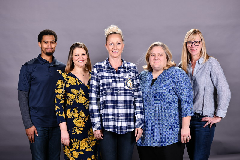 Staff members of the VP for Strategic Initiatives office pose for a Group and Portrait January 29, 2020. (WVU Photo/Greg Ellis)