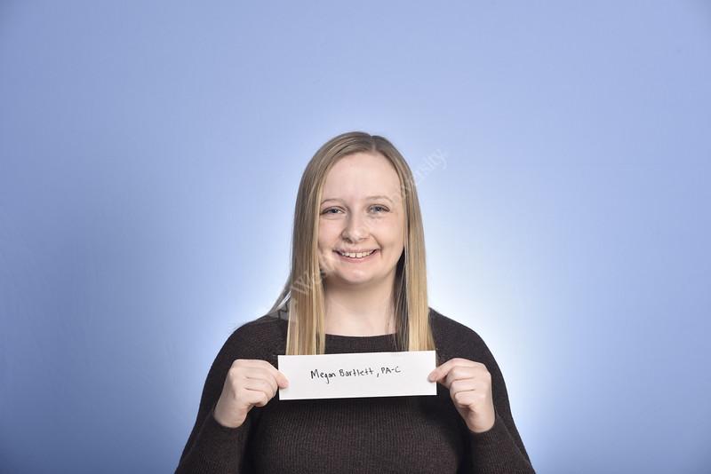 Megan Bartlett PA Urology WV Medicine poses for a portrait at the HSC studio January 30, 2020. (WVU Photo/Greg Ellis)