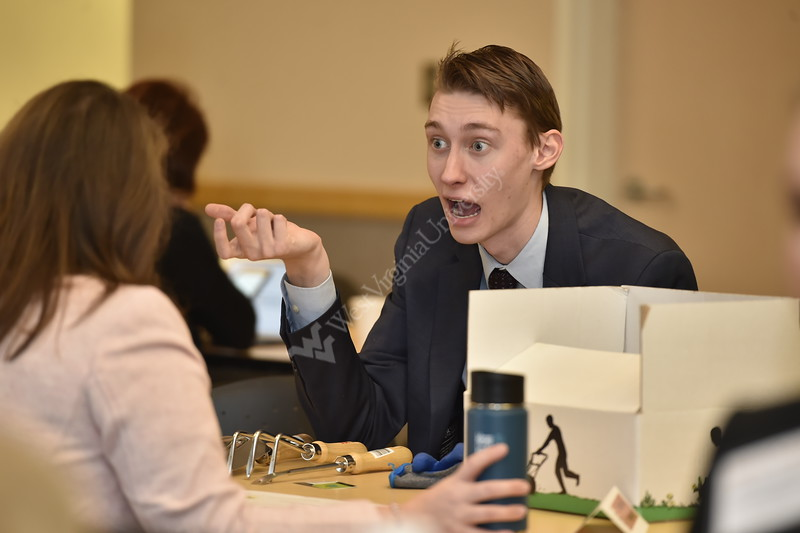 Semifinalists compete in the Business Plan Competition Semifinals at the Falcon Center in Fairmont, WV on January 31, 2020. (WVU Photo/Parker Sheppard)