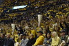"""On January 25, 2020, WVU Men's Basketball went head-to-head with Missouri. The game was held at the Coliseum, many fans attended the game dressed in blue and gold to """"stripe the stadium""""."""