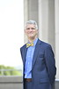 WVU Davis College Dean Darrell Donahue poses for informal environmental portraits at the Davis College on the Evansdale campus July 6, 2020. (WVU Photo/Greg Ellis)