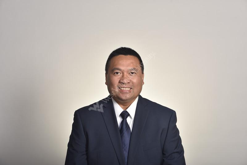Joe Gonzaga a member of the WVU Medicine Pharmacy Leadership team poses for a portrait at the HSC studio July 30, 2020. (WVU Photo/Greg Ellis)