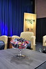 """WVU President Gordon Gee, Daily Athenaeum Editor-in-Chief Douglas Soule and panel guests host the inaugural, """"Behind the Bowtie"""" event in the Gluck Theater March 3rd, 2020.  (WVU Photo/Brian Persinger)"""