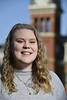 Critical Language Scholar, Christina Murray poses for photographs on the Downtown Campus March 12th, 2020.  (WVU Photo/Brian Persinger)