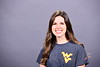 Gianna Antinone WVU Visitor Center Tour Guide poses for a portrait at the OWF studio, October 12, 2020. (WVU Photo/Greg Ellis)