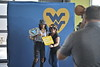 Photos of parents enjoyi the Mountaineer Parents Club Reception in the Evansdale Crossing as taken on August 20, 2020. (WVU Photo/Parker Sheppard)