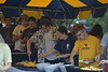 Photos of students attending the student cookout on at the Campus Rec Center on August 14, 2021. (WVU Photo/Parker Sheppard)