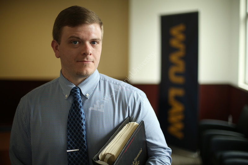 A.J. Thomas will graduate this May with a law degree from WVU. He is one of the students profiled in the Meet the Grads series. Photo by Scott Lituchy / West Virginia University