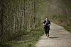 Amanda Paugh will graduate from WVU's School of Public Health this May.  She has taken up running and has lost a lot of weight. Here, she is running on the rail trail in Star City. She is one of the students profiled in the Meet the Grads series. Photo by Scott Lituchy / West Virginia University