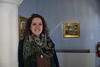 Kelsey Hotaling will graduate from WVU's College of Creative Arts this May.  Here she is by some of the artwork in WVU's collection, on the second floor of Stewart Hall. She is one of the students profiled in the Meet the Grads series. Photo by Scott Lituchy / West Virginia University