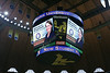 Morgantown Mayor Jenny Selin is shown on the scoreboard during New Student Welcome in the WVU Coliseum. Photo by Scott Lituchy / West Virginia University