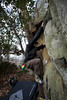WV Rock Climbing members visits nearby attraction, Coopers Rock, to practice their skills in December 2014.