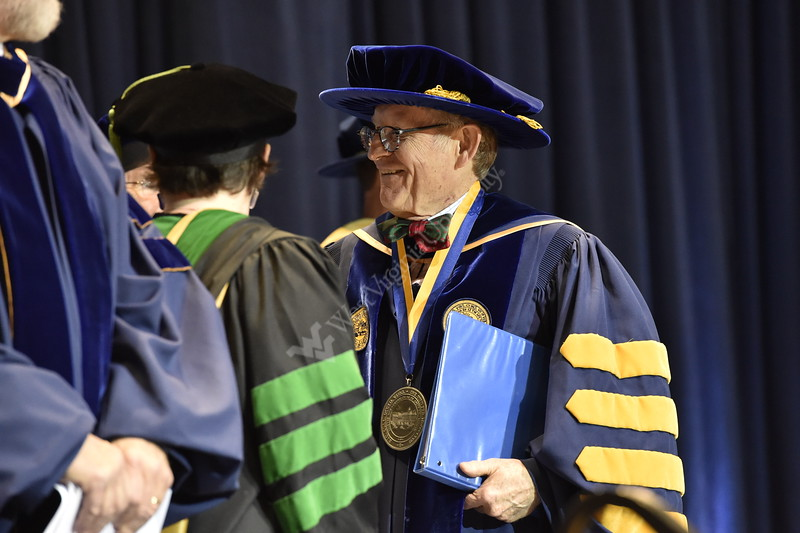 WVU students, faculty, and guests celebrate the December 2014 Commencement event in the Coliseum.
