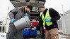 Brady Gutta, Jason Fillhart, and Ben Mack, from West Virginia Water Research Institute collect soil and water samples all the Elk River in Charleston, WV.