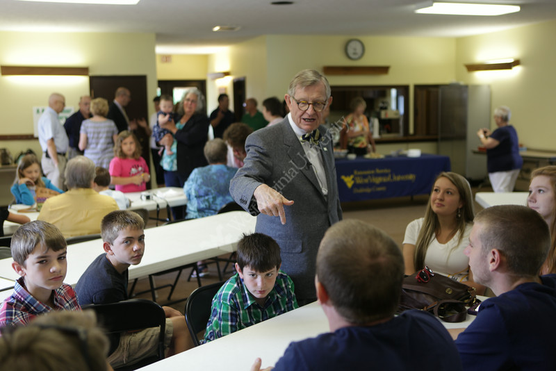 West Virginia University President Gordon Gee continues his 55 county tour. On this trip he visits Doddridge, Tyler, Pleasants, and Wood counties on July 22, 2014. Photo by Scott Lituchy / West Virginia University