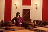 Ashton Marra West Virginia Public Radio reporter at Capital.<br /> <br /> Photo by Raymond Thompson