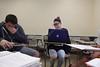Students in class with professor Mary Ann Samyn - Creative Writing<br /> WVU Photo/Raymond Thompson