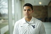 """Anthony Braxton is featured in a WVU twitter branding video, telling us """"I'm going to be the first Mountaineer to...""""  2/3/2015 Photo by Scott Lituchy / West Virginia University"""