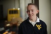 """Brady Smith is featured in a WVU twitter branding video, telling us """"I'm going to be the first Mountaineer to...""""  2/4/2015 Photo by Scott Lituchy / West Virginia University"""