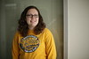 """Ruth Williams is featured in a WVU twitter branding video, telling us """"I'm going to be the first Mountaineer to...""""  2/6/2015 Photo by Scott Lituchy / West Virginia University"""