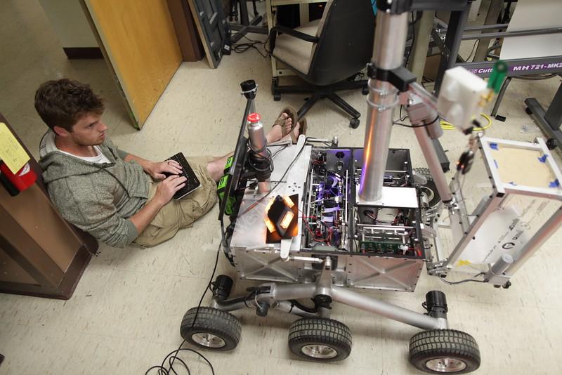 WVU Nasa Robo-Ops Competition Prep <br /> WVU Photo/Raymond Thompson
