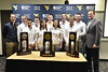 30651; rifle team;  press conference;  ncaa;  celebration; 2015; photo greg ellis