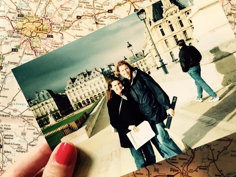 Brianne Miers in front of the Louvre in Strasbourg, France, during semester studying abroad in Strasbourg, France