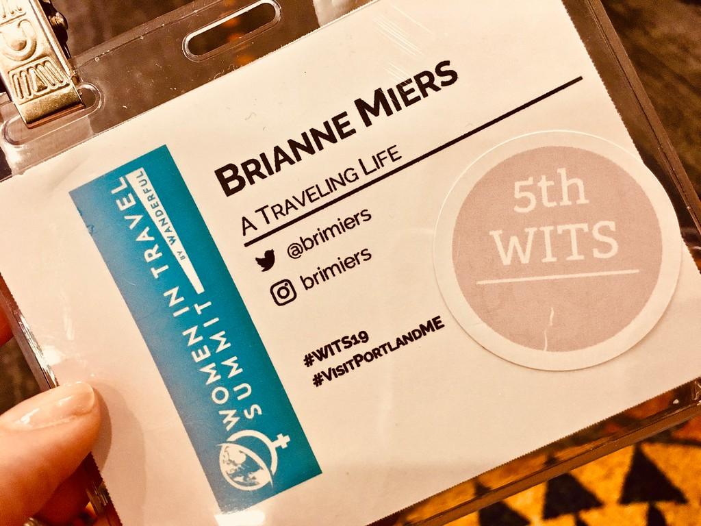 Women in Travel Summit name badge for Brianne Miers