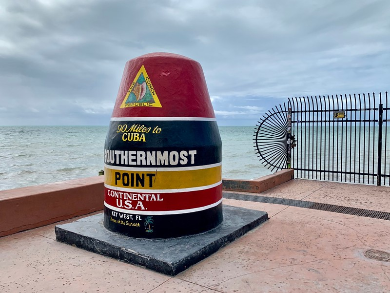 the Southermost Point marker in Key West, Florida