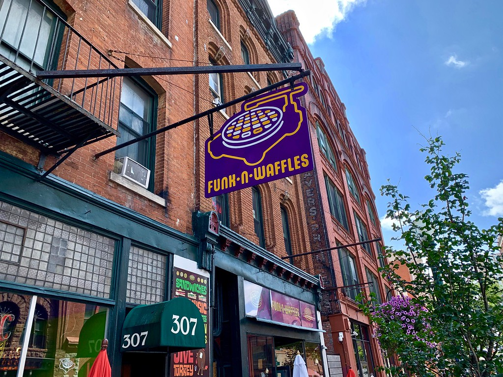 Funk n Waffles in Armory Square in Syracuse, New York