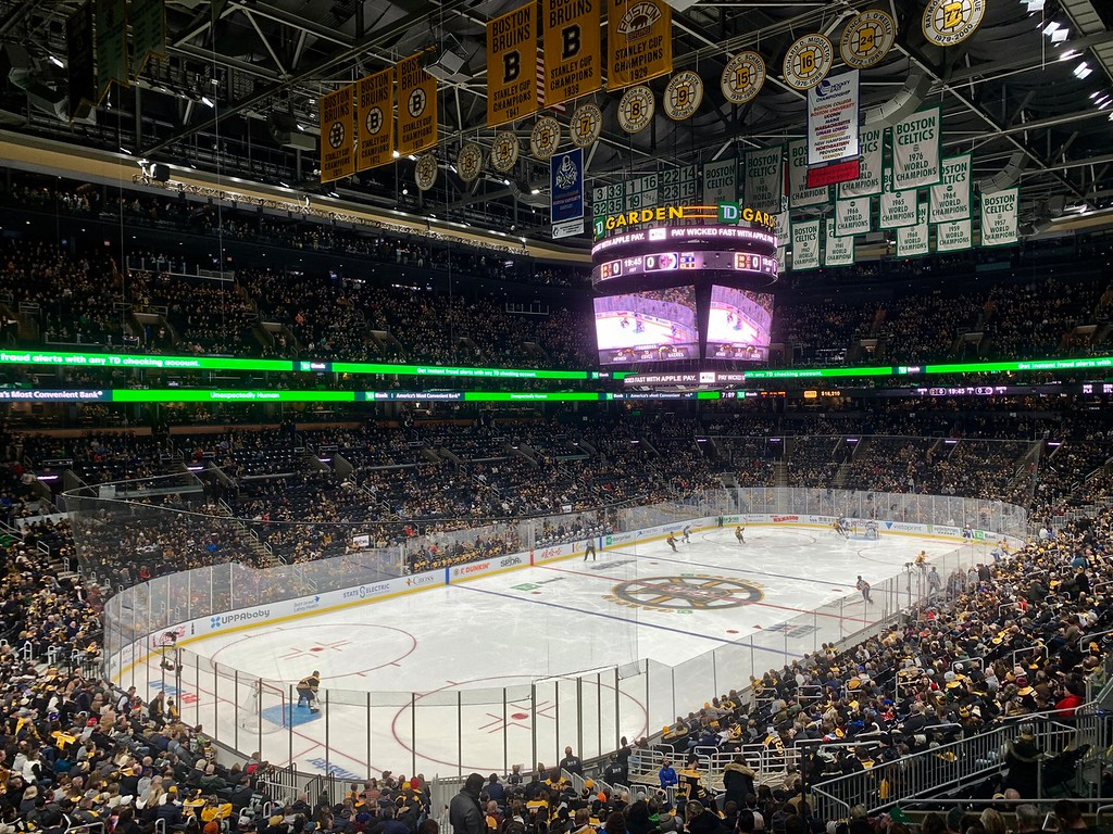 Boston Bruins game at TD Garden in Boston, Massachusetts